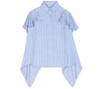 Gestreiftes Hemd aus Seiden-Twill
