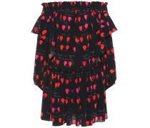 Off-Shoulder-Kleid in Minilänge aus Seide