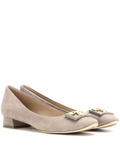 Veloursleder-Pumps Gigi