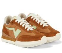 Sneakers FKT aus Twill und Veloursleder