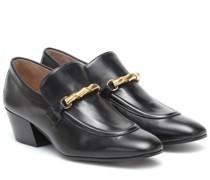 Loafer-Pumps aus Leder