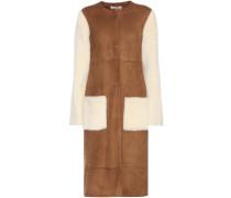 Mantel aus Veloursleder und Lammfell