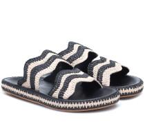 Sandalen Wavy aus Raffiabast