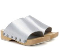 Clogs Nykola aus Metallic-Leder