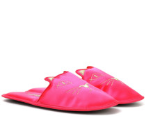 Slippers House Cats aus Satin