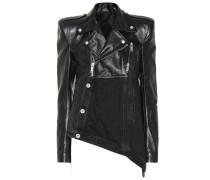 Jacke aus Leder und Denim