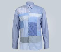 Regular-Fit Patchwork-Hemd