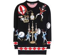 Verzierter Cashmere-Pullover