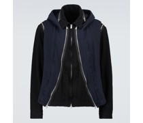Jacke aus Wolle mit Kapuze