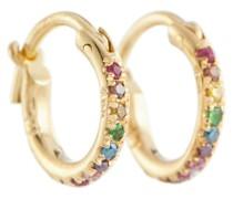 Creolen aus 18kt Gelbgold mit Diamanten