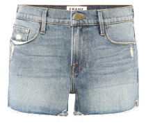 Le Cutoff Tulip denim shorts