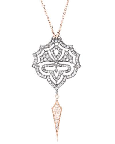 Halskette Passion aus 18kt Roségold und geschwärztem Weißgold