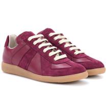 Sneakers Replica aus Glatt- und Veloursleder