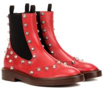 Verzierte Chelsea Boots aus Leder