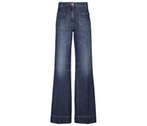 High-Rise Jeans Alina mit weitem Bein