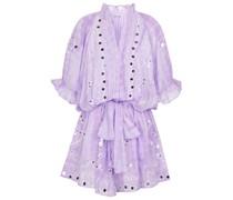 Verziertes Minikleid aus Baumwolle