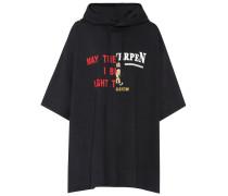 T-Shirt aus Baumwolle mit Kapuze und Print