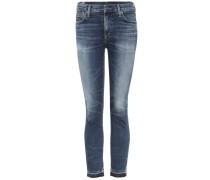 High-Rise Skinny Jeans Rocket Crop