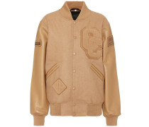 Jacke aus einem Wollgemisch und Leder
