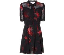 Kleid mit Metallic-Fil-Coupé