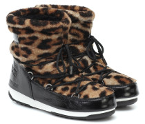 X Moon Boot Ankle Boots aus Shearling