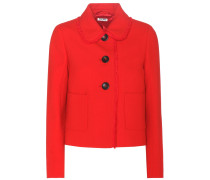 Cropped Jacke aus Wolle