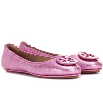 Ballerinas Minnie aus Metallic-Leder