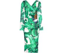 Verziertes Kleid aus Seidengemisch