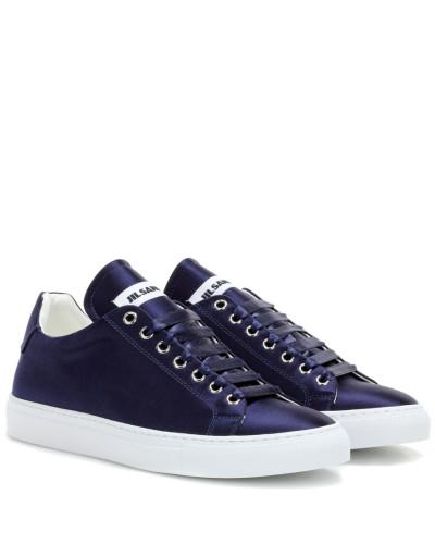 Steckdose Countdown-Paket Auslass Perfekt Jil Sander Damen Sneakers aus Satin Billig Verkauf Blick QBU7Ya1S