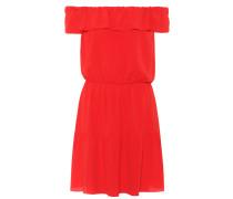 Off-Shoulder-Kleid mit Seidenanteil