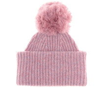 Mütze Solia aus Wolle mit Bommel