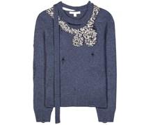Verzierter Pullover aus Wolle und Cashmere