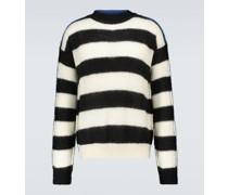Gestreifter Pullover aus Wolle und Mohair