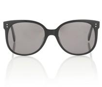 Ovale Sonnenbrille aus Acetat