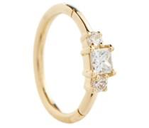 Einzelner Ohrring aus 18kt Gelbgold mit Diamanten