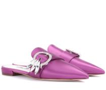 Verzierte Slippers aus Satin
