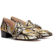 Loafers aus Brokat
