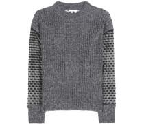 Pullover aus einem Mohair-Wollgemisch und Fil Coupé