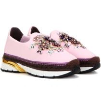 Verzierte Espadrille-Sneakers