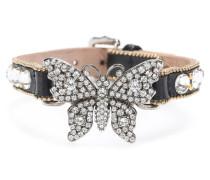 Verziertes Armband aus Leder mit Kristallen