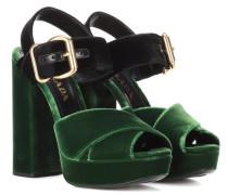 Sandaletten aus Samt