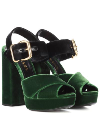 Sammlungen Online Prada Damen Sandaletten aus Samt Vorbestellung Rabatt Professionelle Günstig Kaufen Zuverlässig AFEkMDG0aT