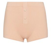 Shorts aus Rippstrick
