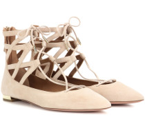 Ballerinas Belgravia Flat aus Veloursleder