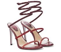 Verzierte Sandalen Cleo aus Leder