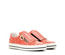 mytheresa.com exklusiv Karierte Slip-on-Sneakers Sneaky Viv' aus geprägtem Leder