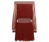 Off-Shoulder-Kleid Indie aus Seiden-Georgette