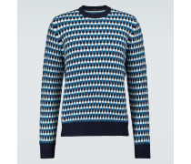 Jacquard-Pullover aus Wolle