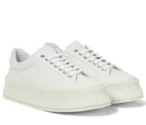 Plateau-Sneakers aus Canvas