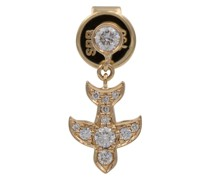 Einzelner Ohrring Paloma Diamant aus 18kt Gelbgold